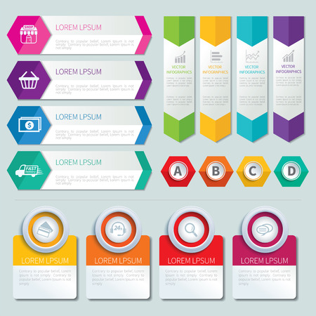bar charts: conjunto de plantillas infográficas