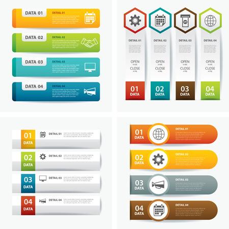 Satz von Infografik-Vorlagen Standard-Bild - 41817129