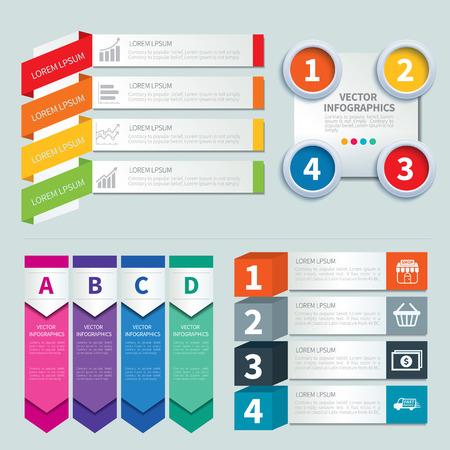 Satz von Infografik-Vorlagen Standard-Bild - 41817133