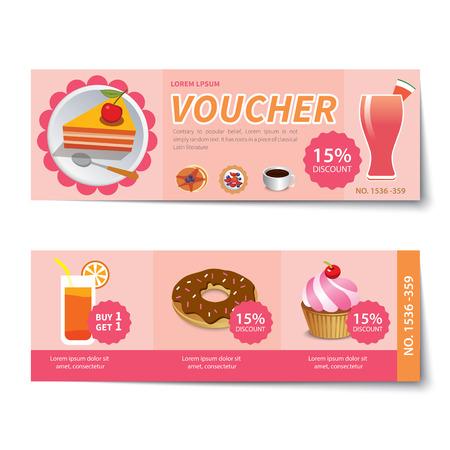 bakery voucher discount  template design