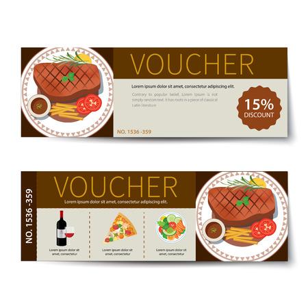 discount: set of food voucher discount template design