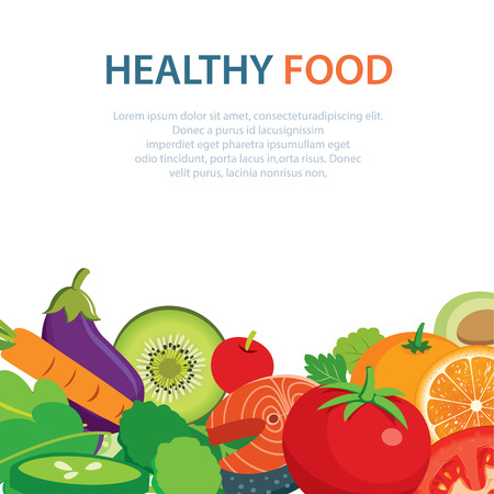 healthy: healthy and clean food concept flat design
