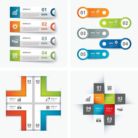 Satz von Infografik-Vorlagen Standard-Bild - 43462330