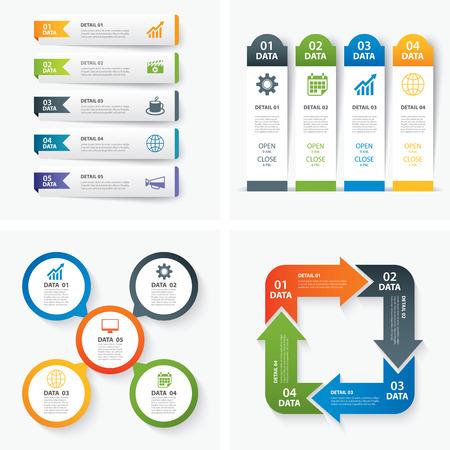 Satz von Infografik-Vorlagen Standard-Bild - 43651277