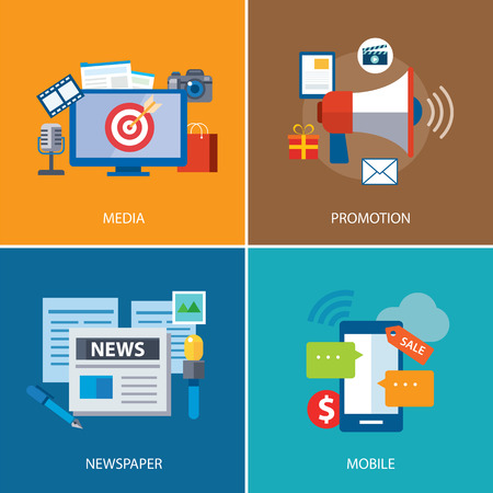 advertising and promotion flat icon design