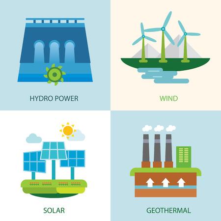 hydro power: set of renewable energy