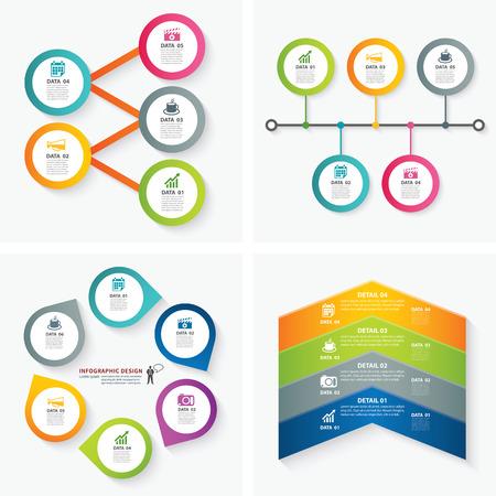 set van infographic sjablonen Stock Illustratie