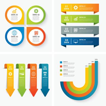 Satz von Infografik-Vorlagen Standard-Bild - 43976923