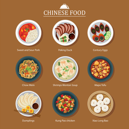 bao: set of chinese food