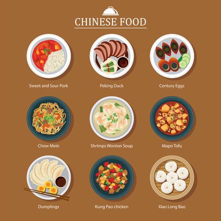 set van Chinees eten
