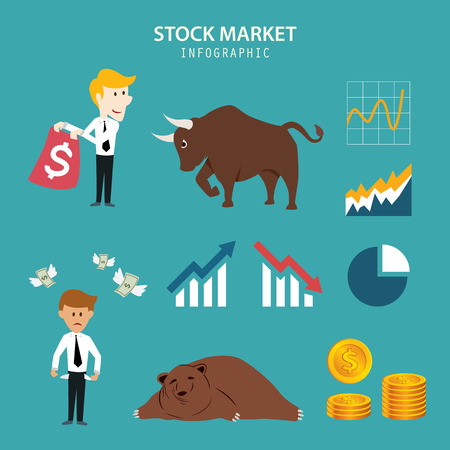 stock trader: stock market infographic