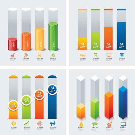 grafica de barras: conjunto de plantillas infográficas