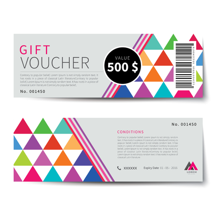 design template: gift voucher discount  template design Illustration