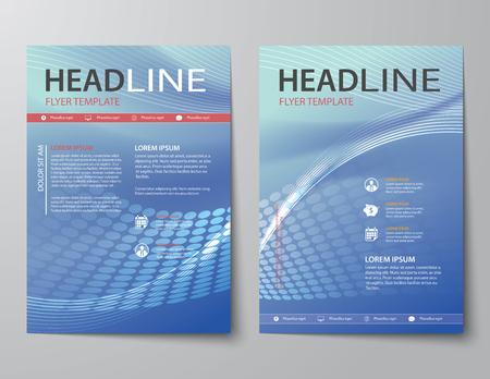 informe: conjunto de portada de la revista de negocios abstracta, folleto, folleto de plantilla de diseño plano Vectores