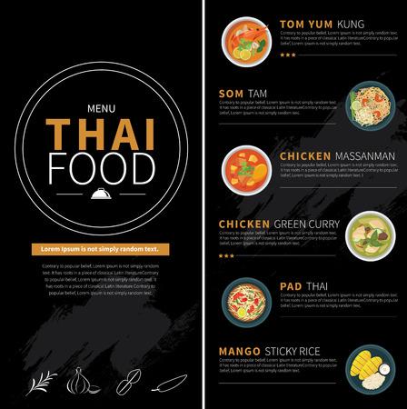 speisekarte: Thai-Food-Menü