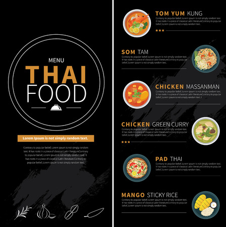 food dish: thai food menu