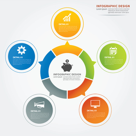 circle design: set of infographic templates