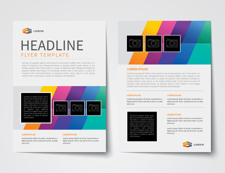 magazine page: set of business magazine cover , flyer, brochure flat design templates