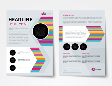 Set of business magazine cover flyer brochure flat design set of business magazine cover flyer brochure flat design templates stock vector 46630771 flashek Choice Image