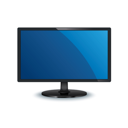 vector computer monitor wide screen isolated on white background