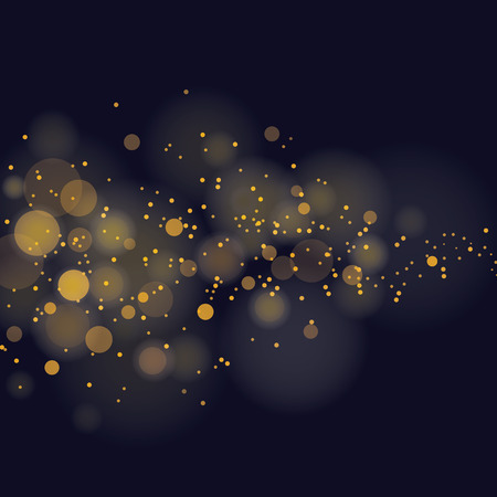 black yellow: vector glittering stars on bokeh background