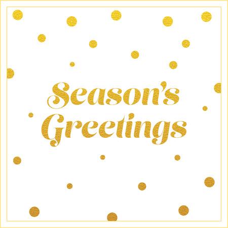 greeting: vector gold seasons greetings card design