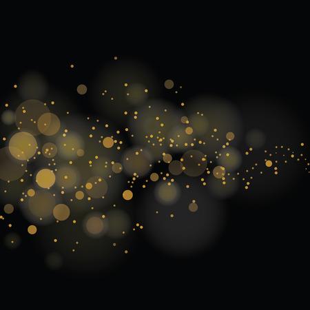 vector glinsterende sterren op de achtergrond bokeh