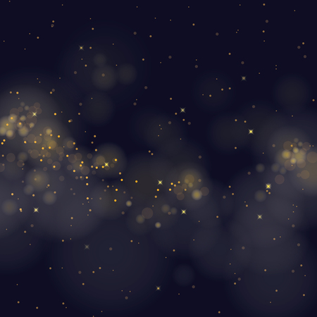black and blue: vector glittering stars on bokeh background