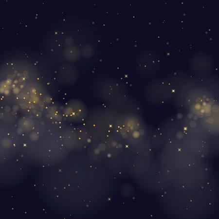 natale: vettore stelle scintillanti su sfondo bokeh Vettoriali