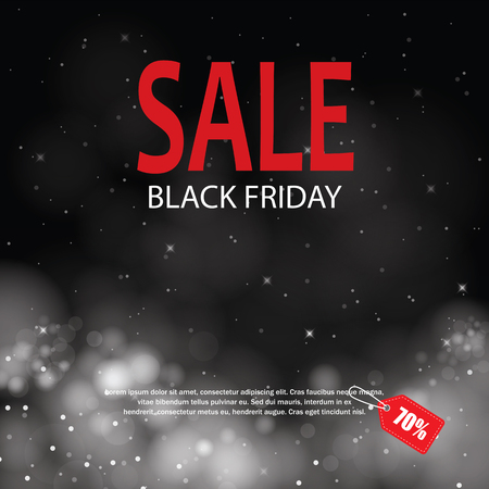 special sale: black friday sale with lights bokeh background