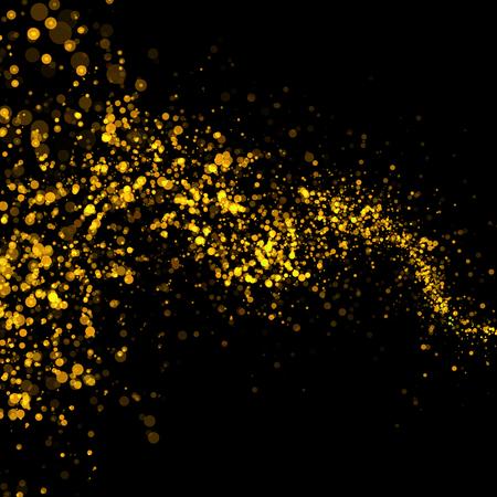 gold stars: gold glittering bokeh stars dust tail