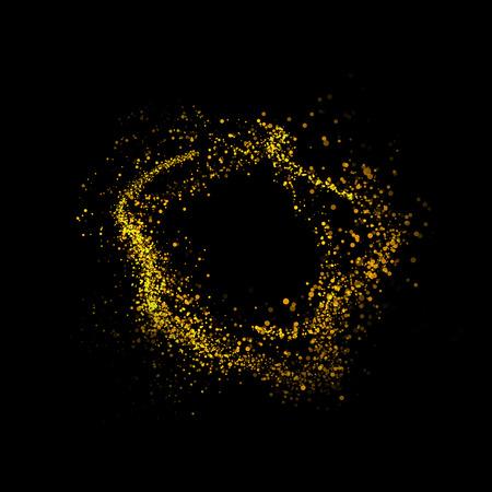 gold dust: gold glittering bokeh stars dust tail
