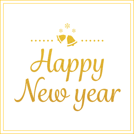 greetings card: vector gold happy new year greetings card Illustration