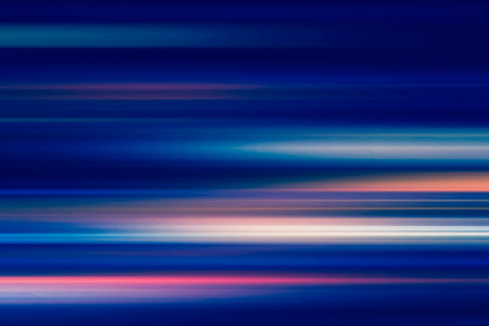 abstract of night lights in the city with motion blur Stock Photo