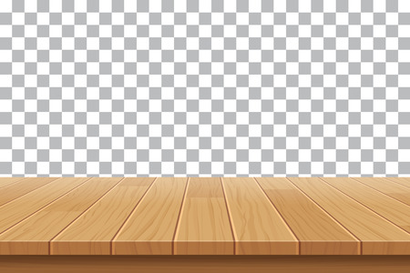 wooden desk: vector wood table top on isolated background