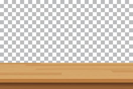 vector houten tafelblad op geïsoleerde achtergrond Vector Illustratie