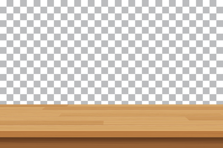 table top: vector wood table top on isolated background