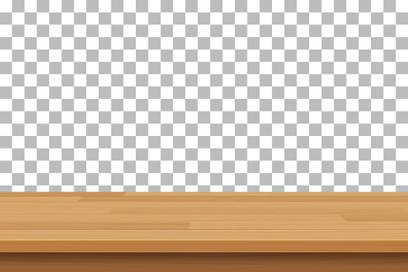 a table: vector wood table top on isolated background