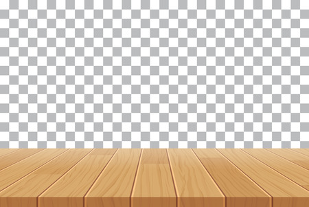 empty table: vector wood table top on isolated background