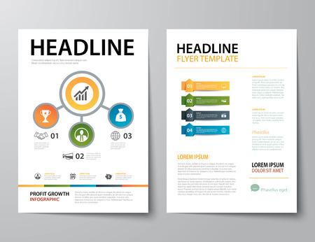 magazine design: set of business magazine cover , flyer, brochure flat design templates