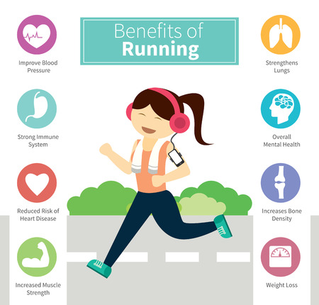 tip to tip: infographic benefits of running