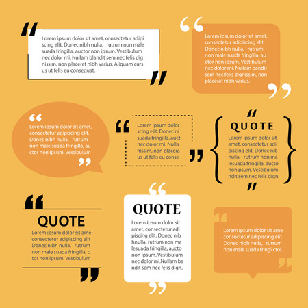 website template: modern quote text template design elements Illustration