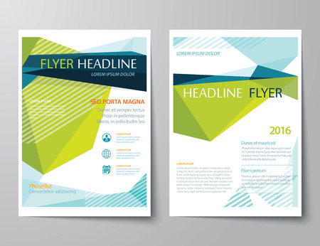 abstract low polygon templates for brochure flat design