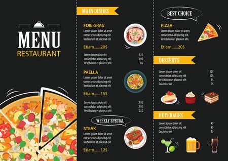 coquetel: Molde do menu do restaurante café design plano