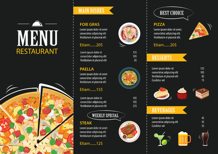 restaurant cafe menu template flat design