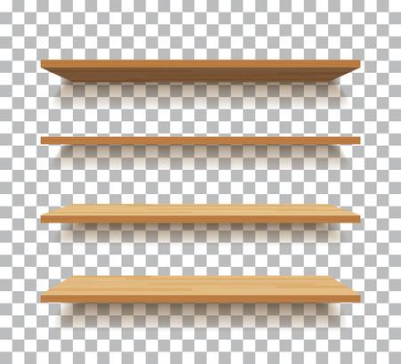 lege houten plank geïsoleerde achtergrond