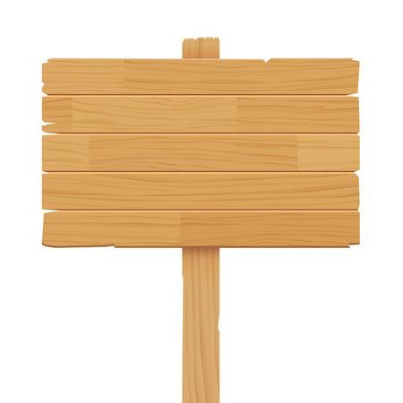 houten bord op een witte achtergrond