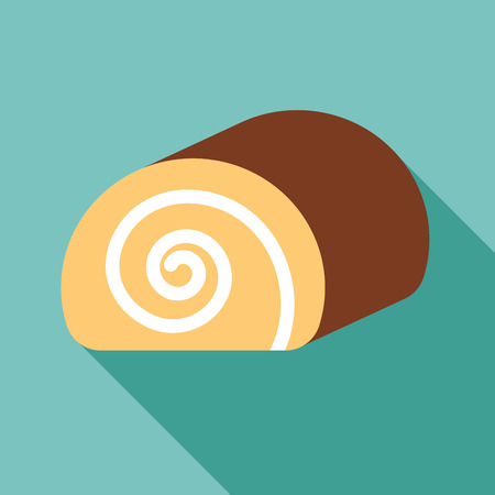 swiss roll: jam roll cake Illustration