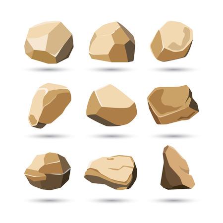 rotsen en stenen set