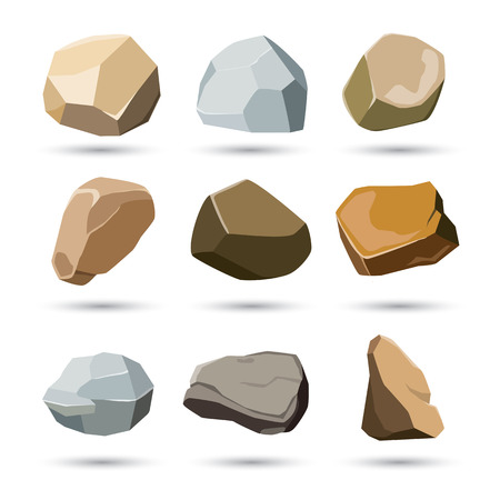 cobble: rock and stone set